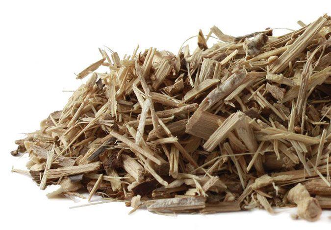 pile of Eleuthero bark. good for energy maintenance