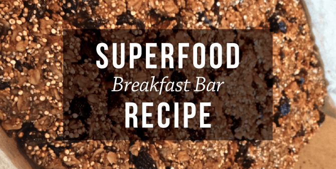 superfood breakfast bar recipe