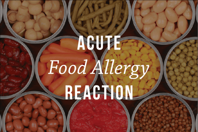 acute allergic food reaction