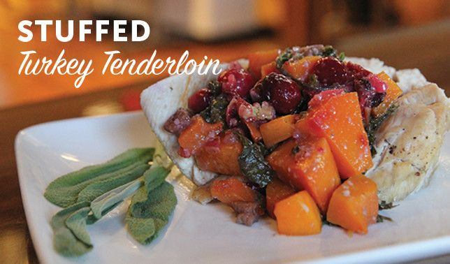 Stuffed Turkey Tenderloin with Butternut Squash, Cranberry, and Pecan | Vital Plan