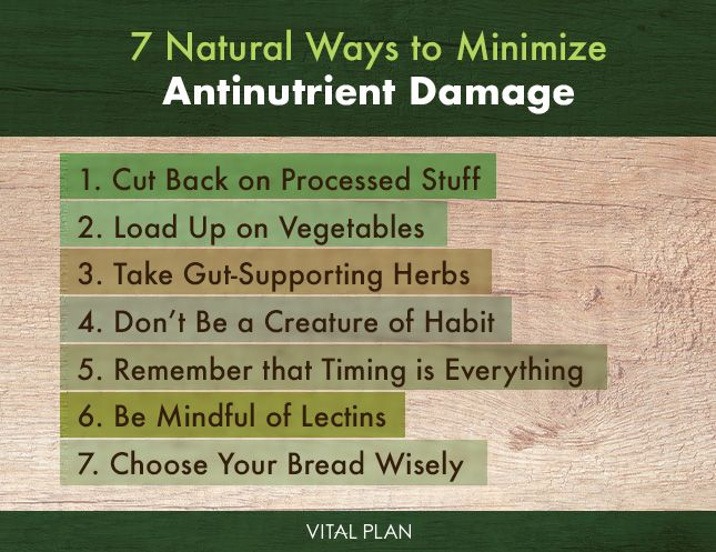 7 natural ways minimize antinutrient damage