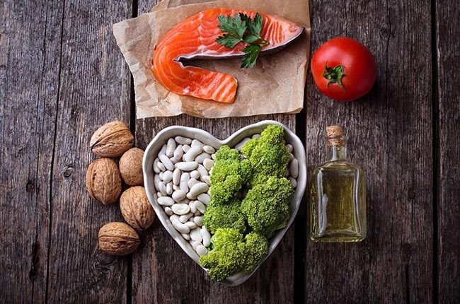 Cholesterol diet, healthy food for heart. Selective focus