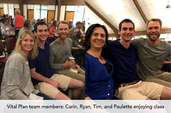 Vital Plan team members: Carin, Ryan, Tim, and Paulette enjoying class