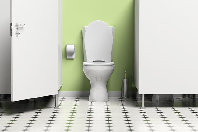 water-closet-with-open-door-and-white-toilet-bowl